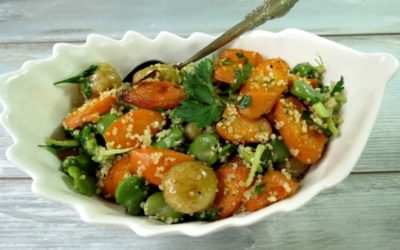 Sałatka z pieczonej marchewki