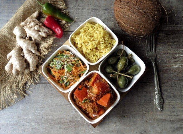 Varutharacha dynia curry